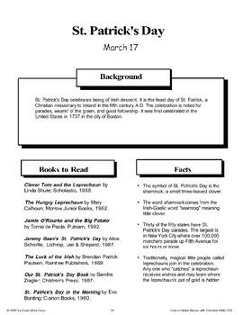 St. Patrick's Day: Making Books