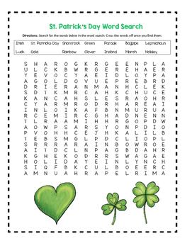 St. Patrick's Day - March 17 - Leprechaun Activities