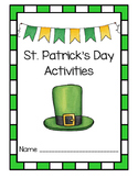 St. Patrick's Day - March 17 - Leprechaun Activities