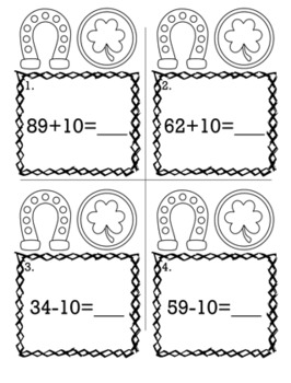 St. Patrick's Day March 1st Grade {Scoot Game/Task Cards} Math Bundle