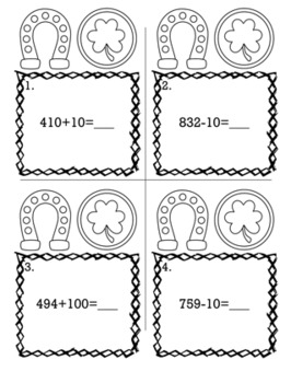 St. Patrick's Day March 2nd Grade {Scoot Game/Task Cards} Math Bundle