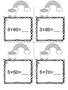 St. Patrick's Day March 3rd Grade {Scoot Game/Task Cards} Math Bundle