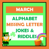 St. Patrick's Day / March - Alphabet Missing Letter - Riddles & Jokes