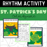 St. Patrick's Day March Color-by-Note Music Coloring Pages