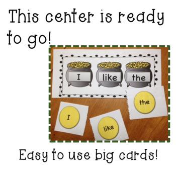 St. Patrick's Day/March Journeys Kindergarten Sight Word Matching Center