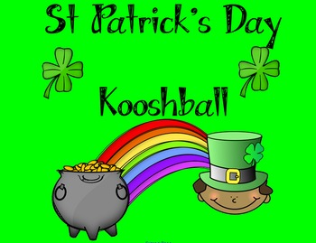 St Patrick's Day/ March Kooshball Game for SMARTboard