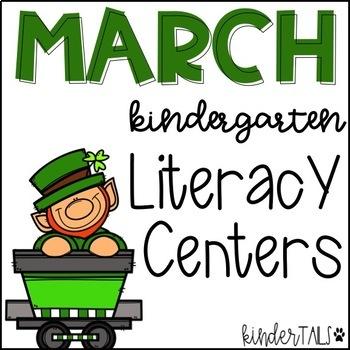 St. Patrick's Day March Literacy Centers for Kindergarten #teachersloveteachers