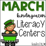 St. Patrick's Day March Literacy Centers for Kindergarten