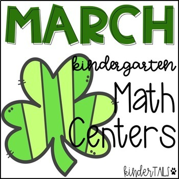 St. Patrick's Day Math Centers for Kindergarten {March}