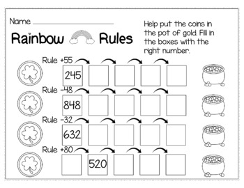 St. Patrick's Day March Math for 3rd Grade - NO PREP Packet