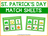 St. Patrick's Day Match Sheets