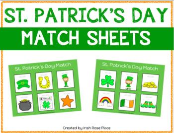 St. Patrick's Day Match Sheets