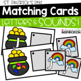 St. Patrick's Day Matching Cards for Letters and Sounds
