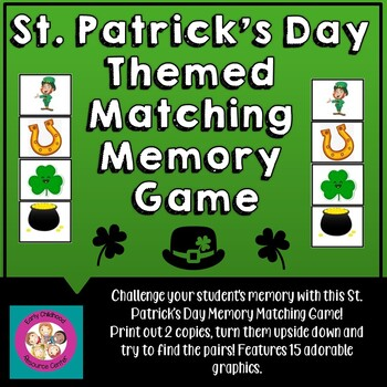 St. Patrick's Day Matching Memory Game
