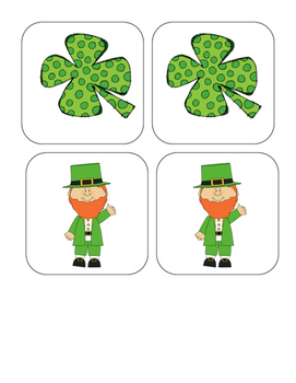 St. Patrick's Day - Matching and Memory Game - 9 pairs!