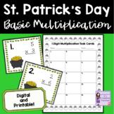 St. Patrick's Day Math   1 Digit Multiplication Task Cards