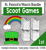 St. Patrick's Day Math 1st Grade BINGO Game Bundle