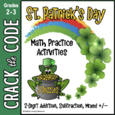 St. Patrick's Day Math: 2-Digit Addition & Subtraction - C