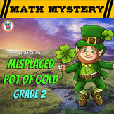 2nd Grade St. Patrick's Day Math Activity -  St. Patrick's Day Math Mystery