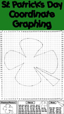 St. Patrick's Day Math Activity: Four Leaf Clover Coordinate Graphing Picture