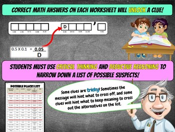 St Patrick's Day Math Mystery Activity - GRADE 6 - {Math Review}