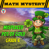 6th Grade St. Patrick's Day Math Activity -  St. Patrick's Day Math Mystery