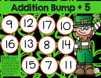 St Patrick's Day Math Addition Bump Game