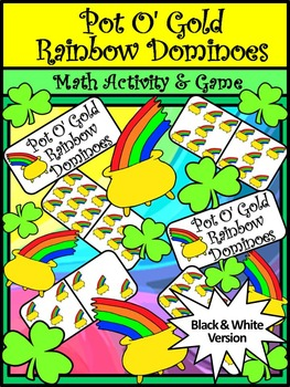 St. Patrick's Day Math Activities: Pot of Gold Dominoes Ma