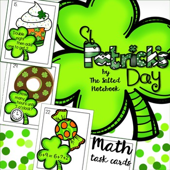 St Patrick's Day 1st grade Math Task Cards