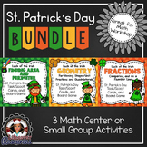 St. Patrick's Day Math Games - Area, Perimeter, Geometry, and Fractions