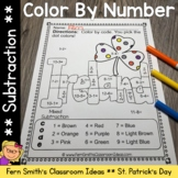 Color By Numbers St. Patrick's Day Math Subtraction