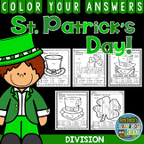 Color By Numbers St. Patrick's Day Math Division