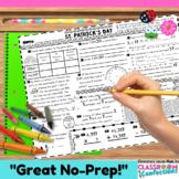 St. Patrick's Day Math: Worksheet
