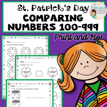 St. Patrick's Day Math Comparing Numbers