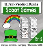 St. Patrick's Day Math 2nd Grade BINGO Game Bundle