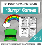 St. Patrick's Day Math 2nd Grade+ Bump Games Bundle