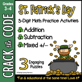 St. Patrick's Day Math Activity 3-Digit Addition & Subtrac