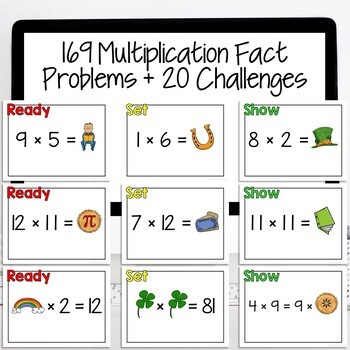 St. Patrick's Day Math | Multiplication Games | Multiplication Facts