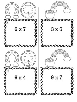 St. Patrick's Day Math 3rd Grade Scavenger Hunt Game Bundle