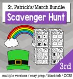 St. Patrick's Day Math 3rd Grade Scavenger Hunt Game Bundle