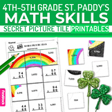 St. Patrick's Day Math 4th-5th Grade Worksheets | Secret P
