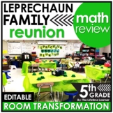 St. Patrick's Day Math Review | 5th Grade Room Transformation