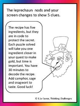 St Patrick's Day Math. A Leprechaun mystery challenge