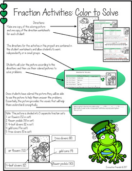 St. Patrick's Day Fraction Activities