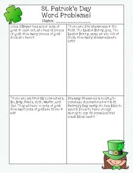 St. Patrick's Day Math Activities