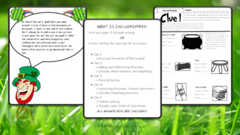 St. Patrick's Day Math Activities (CSI)