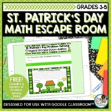 St Patrick's Day Math Activities | Free Digital Escape Room