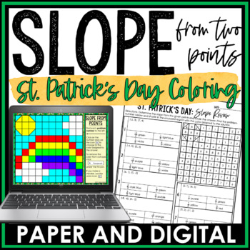 St. Patrick's Day Math Activity: Determining Slope