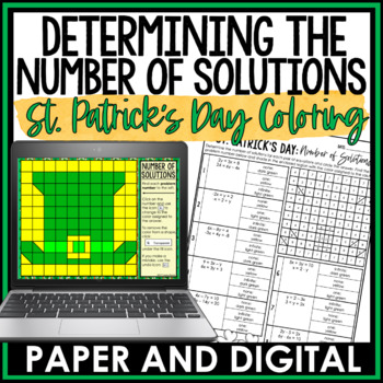St. Patrick's Day Math Activity: Determining the Number of Solutions
