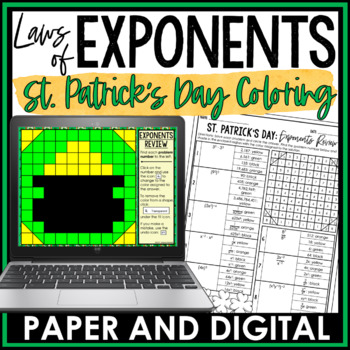 St. Patrick's Day Math Activity: Exponents Review